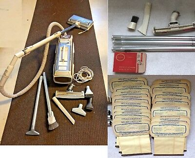 Vintage Electrolux Tank Vacuum Cleaner Automatic w/ bags Filter accessories
