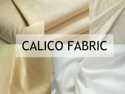 "Calico Fabric Medium Weight 62/"" Wide superior 100/% Cotton £110 For 50 Metre Roll"