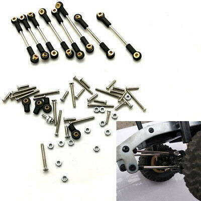 For WPL 1/16 B14/C24 Military Truck RC Car Upgrade Steering Pull Rod Metal Kit
