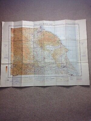 "Ordnance Survey North East England 1940 ""NOT TO BE PUBLISHED"" Military Map WW2"