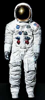 Life Size Neil Armstrong Space Suit Apollo 11 First Man On The Moon Canvas Print