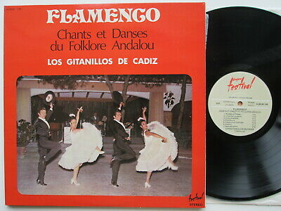 33T 2LP Los Gitanillos De Cadiz Flamenco Chants Et Danses Du Folklore FRANCE