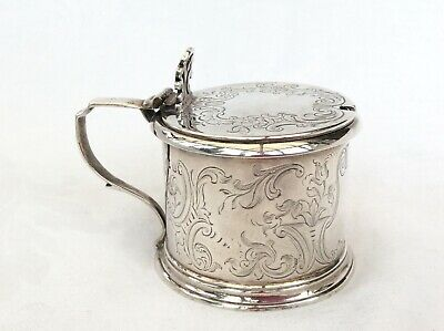 LARGE EARLY VICTORIAN SILVER MUSTARD POT - W R Smiley, London, 1843.