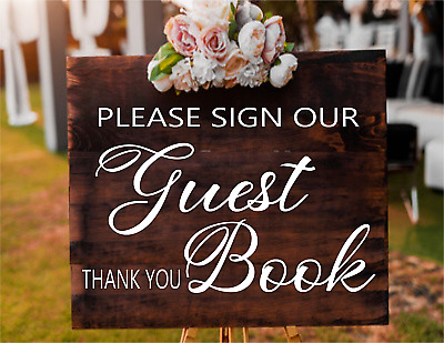 Personalised Wedding Party GUESTBOOK sign wall mirror Vinyl Decal Sticker V544
