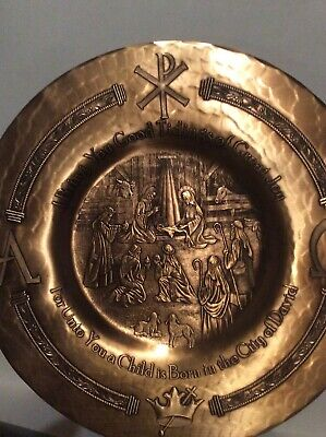 Collectible Wendell August Solid Bronze Plate