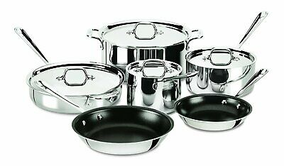 All-Clad 401488 NSR2-R Stainless Steel Tri-Ply Bond PFOA Free Nonstick Cookware