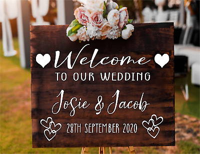 Personalised Wedding Party welcome to sign wall mirror Vinyl Decal Sticker V545
