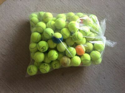 12 Used Green Soft Tennis Balls Great for Tennis / Coaching / For Dogs
