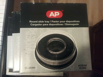 AP Round Slide Tray Magazine Kodak / Elmo 80 Photographic Slides (4PIECES)