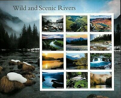 1 Sheet #5381 Forever Wild And Scenic Rivers. Bin $8.99. Free Delivery.