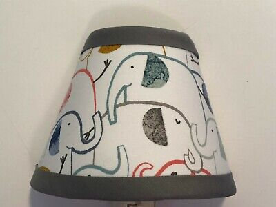 Taylor Elephant Fabric Nursery Lamp Shade M2M Pottery Barn Kids Bedding