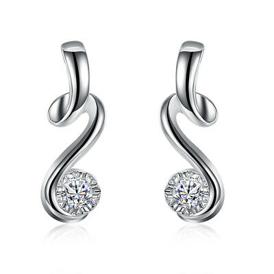 Fashion Jewelry 925 Silver Zircon Classical Musical Note Women Earrings EB785