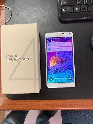 New T-Mobile Samsung Galaxy Note 4 N910T 16GB UNLOCKED Smartphone/White