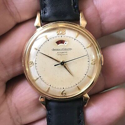 JAEGER LECOULTRE 40 hours Power reserve 18k solid gold watch working condition