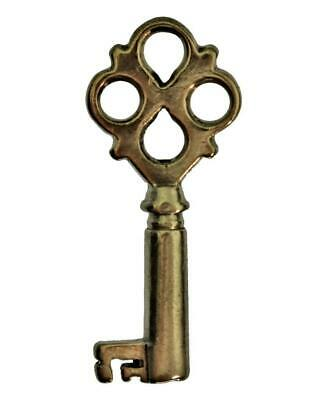 Antique Key for CASKET with QUATREFOIL BOW 31mm Small - Victorian - ref.k316