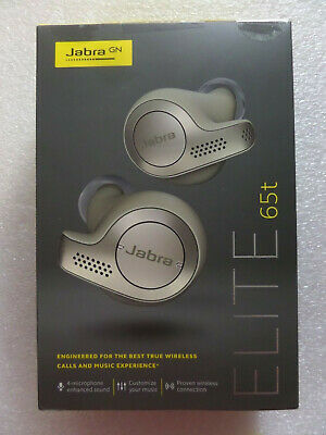 Jabra Elite 65t Alexa Enabled True Wireless Earbuds w Charging Case Beige Gold