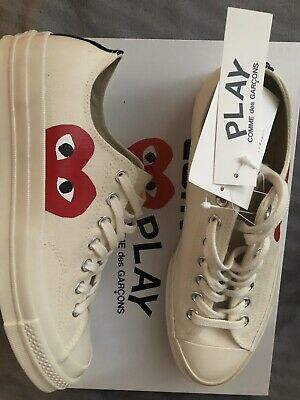 preview of cute the best BRAND NEW UK 9 Comme des GARCONS Play X Converse Chuck ...