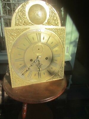 Longcase Face And Movement By Joseph Austin London 12 X 16 1/2 1740