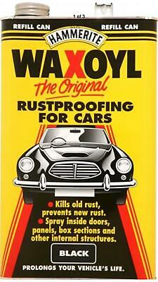 Waxoyl black hammerite 5 litre can underseal metal can large