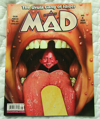 Brand New Mad Magazine August 2019 Uvula Gang Of Idiots Issue #8