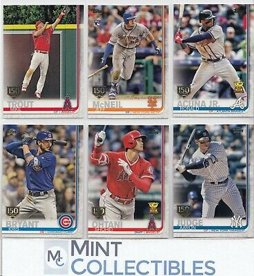 2019 Topps Series 1 150th Anniversary Parallels - U Pick & Complete Your Set