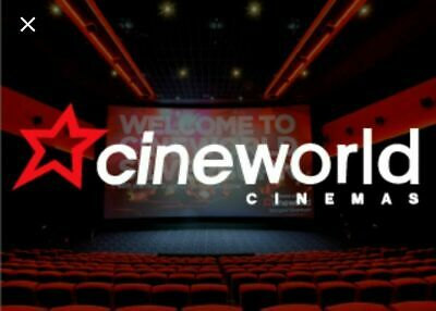6 x CINEWORLD Cinema tickets to a 2D film - SUNDAY ONLY - fast delivery