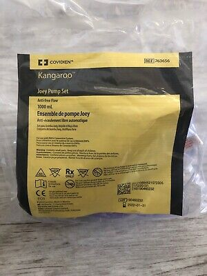 Covidien Kangaroo 763656 Joey Pump Set Feeding Bag 1000mL Lot Of 35 Bags
