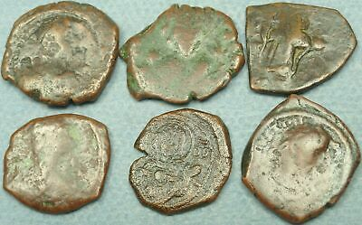 Lot Of 6 Byzantine Bronze Coins