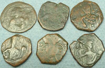 Lot Of 6 Small Byzantine Bronze Coins