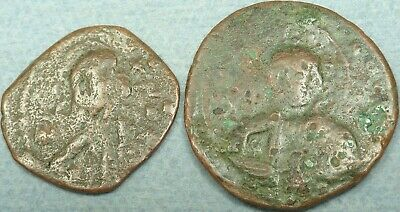 Lot Of 2 Byzantine Bronze Coins