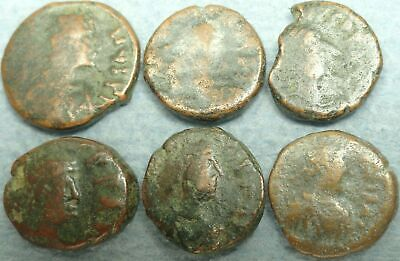 Lot Of 6 Fractional Byzantine Bronze Coins