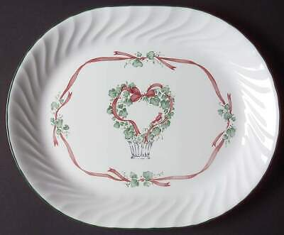 """Corelle CALLAWAY CHRISTMAS HOLIDAY IVY12"""" Oval Serving Platter"""