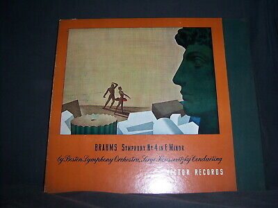 Victor RS DM-730 Serge Roussevitzky Brahms Symphony No 4 in E Minor Opus 98 1938