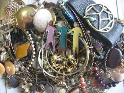 Vintage Now Large Estate Jewelry Lot Junk Drawer Unsearched All Wear Resell Lbs.