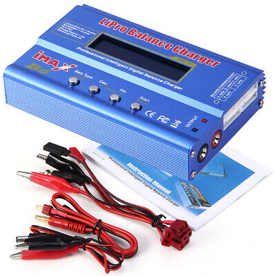 iMAX B6 80W Digital LCD Lipo NiMH Pb Battery Balance Charger for RC Hobby Model
