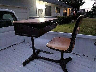 Local Pickup only - Vintage School Student Desk & Chair