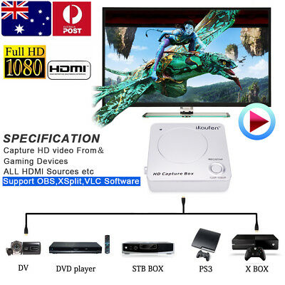 1080P HDM HD Video Game Gaming Capture Recorder Box Card for TV PS4 Xbox One