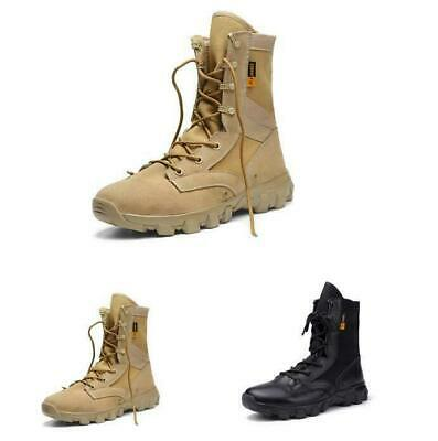 db9ac33342d MEN TACTICAL BOOTS Lace Up Military Shoes Outdoor Training High Top ...