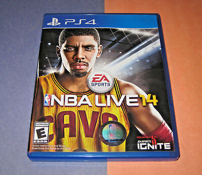 NBA Live 14 (Sony PlayStation 4, 2013) Scratch FREE Game Disc LN