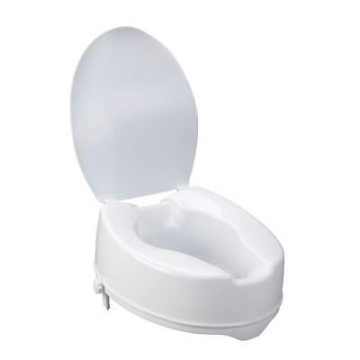 """Raised Toilet Seat with lid 15cm rise 6"""" Portable Home Aid 110kg NEW in box"""