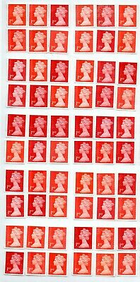 "100 1st Class red ""A"" grade Unfranked GB Stamps (Peelable)3"