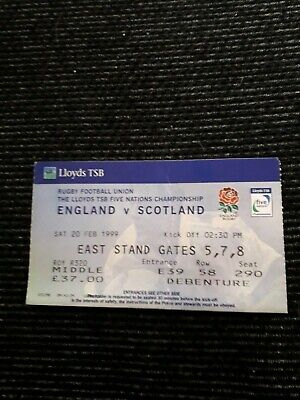 1999-England V Scotland-Five Nations Champions-Rugby Union Ticket