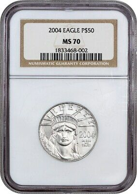 2004 Platinum Eagle NGC MS70 - Statue Liberty 1/2 oz