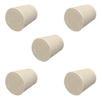 5x Rubber Stopper Bungs Laboratory Solid Hole Stoppers Push-In Sealing Plugs