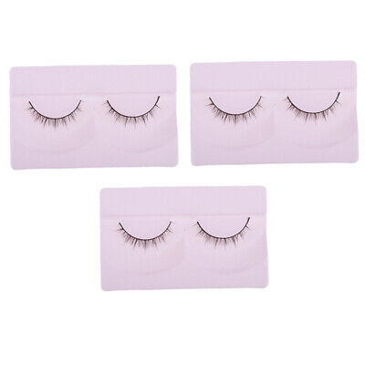 3 Pair Girl Doll Curly False Eyelashes For BJD Dolls DIY Making Accessory