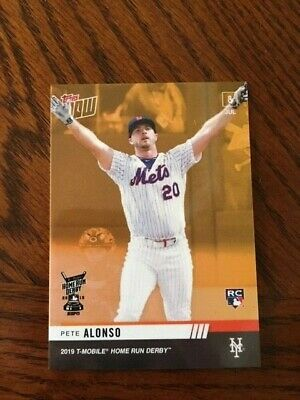 2019 Topps Now Card Home Run Derby Rookie Bonus Card Mets Pete Alonso #Hrd-2B