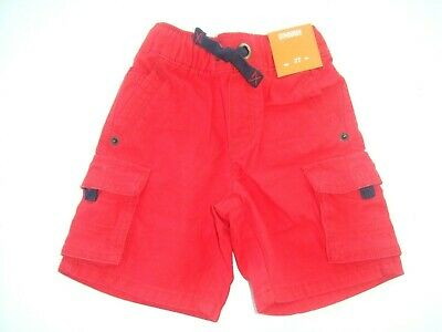 NWT Gymboree AMERICANA SHOP sz 2T 3T 4T Boys Red Cargo Shorts NEW