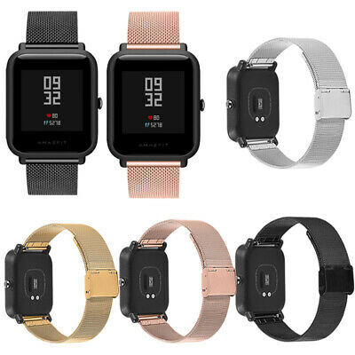 Milanese Stainless Steel Bracelet Watch Band Strap For Xiaomi Amazfit Bip Youth