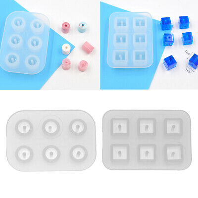 Silicone Bead Pendant Mold Charm Square/Round Mould for Resin Jewelry Making