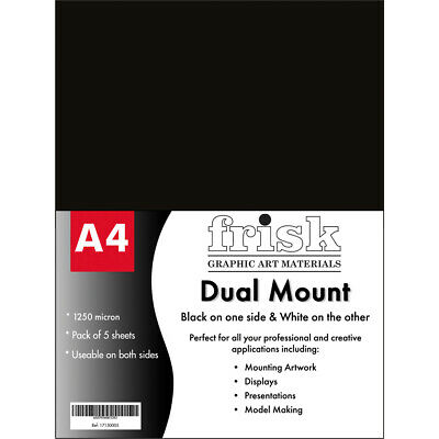 Frisk Dual Mount A4 Black/White Pack of 5